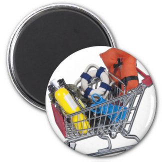 ShoppingCartWaterSportEquipment081212.png 2 Inch Round Magnet