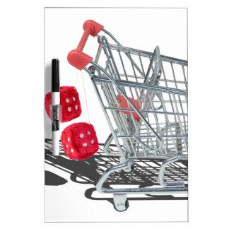 ShoppingCartWithFuzzyDice092715 Dry-Erase Board