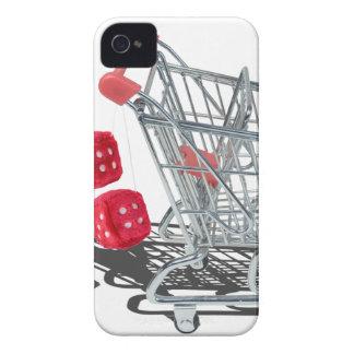 ShoppingCartWithFuzzyDice092715 Funda Para iPhone 4