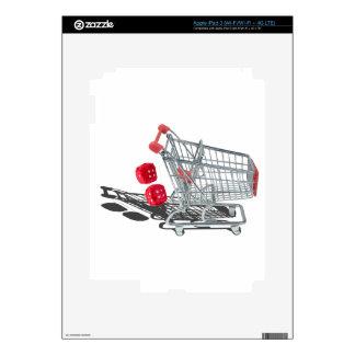 ShoppingCartWithFuzzyDice092715 iPad 3 Skins