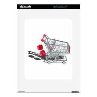 ShoppingCartWithFuzzyDice092715 iPad Calcomanía