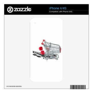 ShoppingCartWithFuzzyDice092715 iPhone 4S Calcomanía