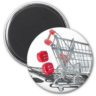 ShoppingCartWithFuzzyDice092715 Magnet