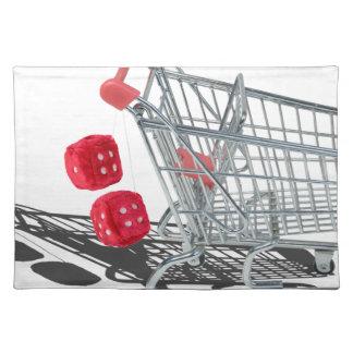 ShoppingCartWithFuzzyDice092715 Placemat