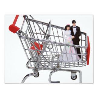 "ShoppingNewlyWeds040909 Invitación 4.25"" X 5.5"""