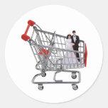 ShoppingNewlyWeds040909 Round Sticker