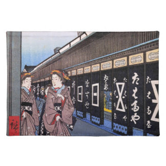 Shops with Cotton Goods in Ōdenma-chō (大てんま町木綿店) Placemat