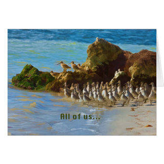 Shore Birds at the Ocean Birthday Card From Group