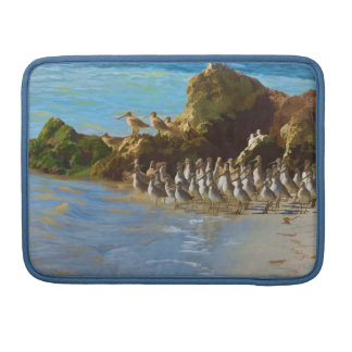 Shore Birds at the Ocean on a MacBook Pro Sleeve