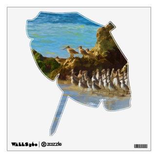 Shore Birds at the Ocean Wall Decal