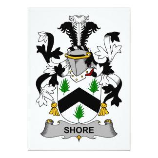 Shore Family Crest 5x7 Paper Invitation Card