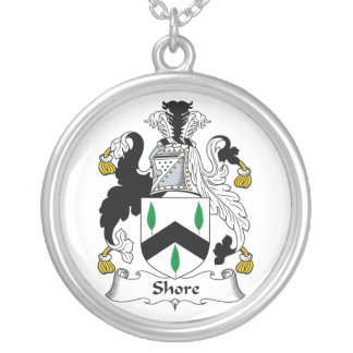 Shore Family Crest Silver Plated Necklace