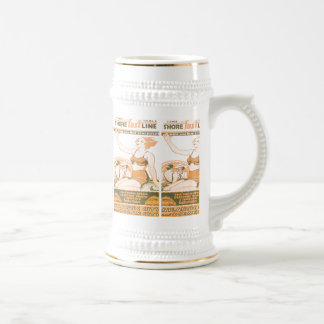 Shore Fast Line Timetable Beer Stein