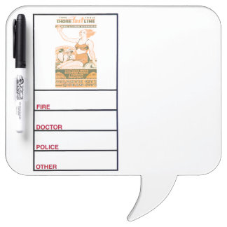 Shore Fast Line Timetable Dry-Erase Board
