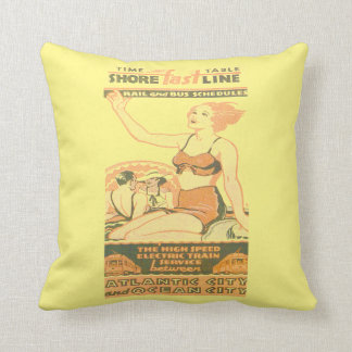 Shore Fast Line Timetable Throw Pillow