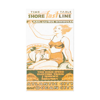 Shore Fast Line Timetable Wrapped Canvas Print