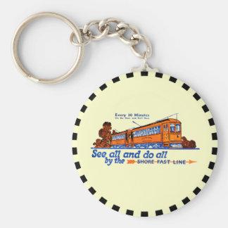 Shore Fast Line Trolley Service Basic Round Button Keychain