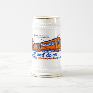 Shore Fast Line Trolley Service Beer Stein