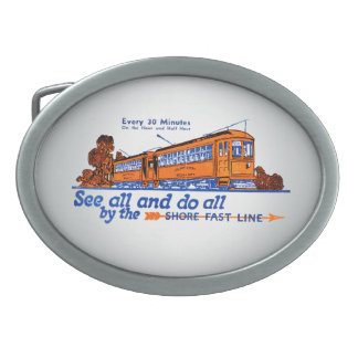 Shore Fast Line Trolley Service Belt Buckle