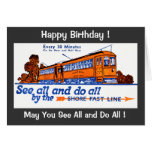 Shore Fast Line Trolley Service Birthday Cards
