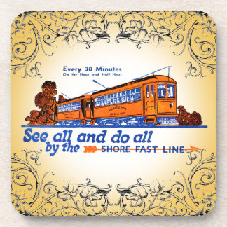 Shore Fast Line Trolley Service Drink Coasters