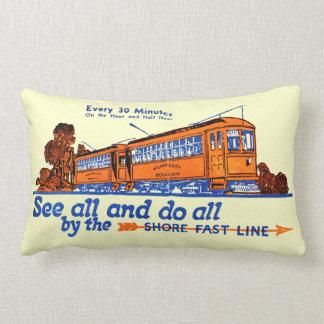 Shore Fast Line Trolley Service Lumbar Pillow