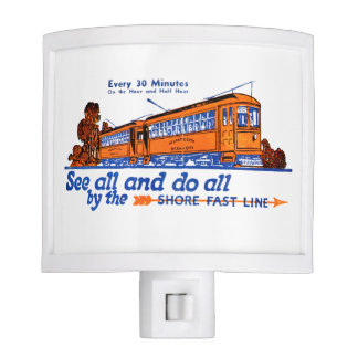 Shore Fast Line Trolley Service Night Light