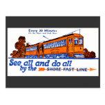 Shore Fast Line Trolley Service Postcard