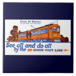 Shore Fast Line Trolley Service Tile Large Square Tile