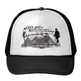 Shore Fast Line Trolleys 1910 Vintage Mesh Hats
