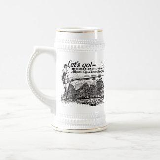 Shore Fast Line Trolleys Vintage 1910 Beer Stein