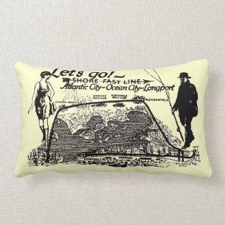 Shore Fast Line Trolleys Vintage 1910 Lumbar Pillow