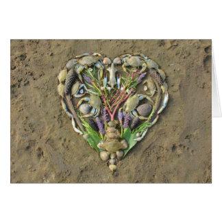 Shore heart nature art card