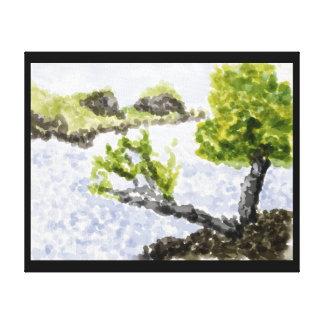 Shore Line View Canvas Print