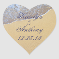 Shore Love Custom Wedding Sticker or Favor Label sticker