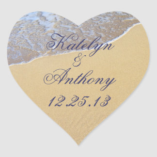 Shore Love Custom Wedding Sticker or Favor Label