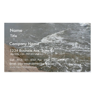 Shore Of Brown Rock And Sand Business Card
