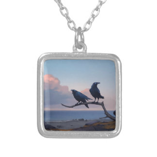 Shore Of Despair Silver Plated Necklace