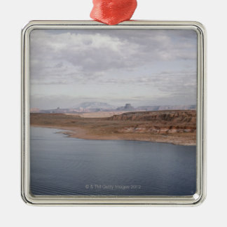 Shore of Lake Powell, Arizona, by Grand Canyon Square Metal Christmas Ornament