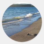 Shore of Lake Taupo, New Zealand. Round Stickers
