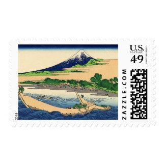 Shore of Tago Bay  Ejiri at Tokaido Stamps