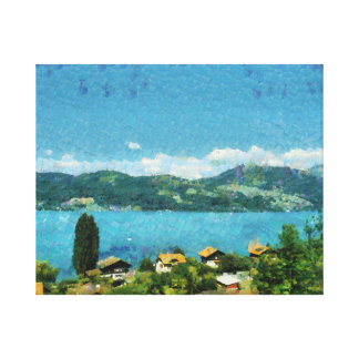 Shore of the lake canvas print