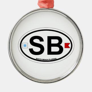 SHORE OVAL ba Metal Ornament