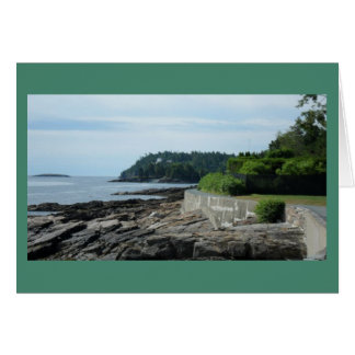 Shore Path, Bar Harbor, Maine Notecard