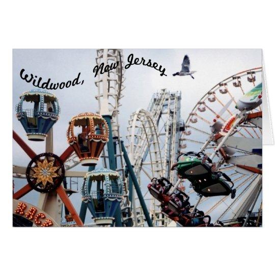 Shore Pier-Wildwood Text Horizontal Greeting Card