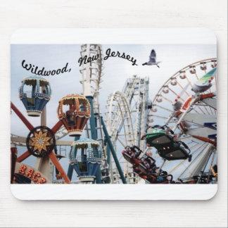Shore Pier-Wildwood Text Mousepad