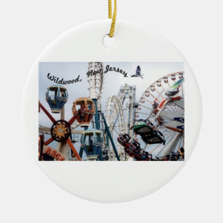 Shore Pier/Wildwood Text Ornament