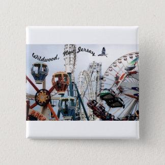 Shore Pier-Wildwood Text Square Button