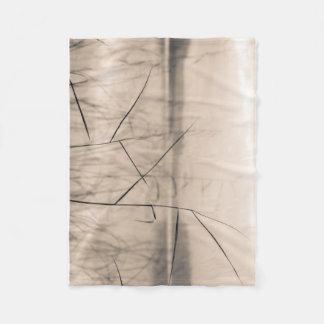 Shore reeds fleece blanket