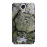 Shore rocks, jagged, with small green shoot galaxy s4 covers